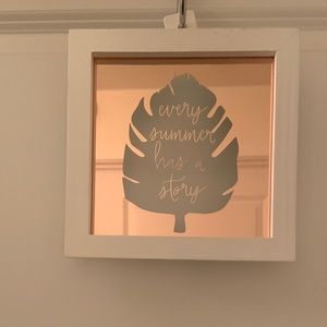 Wood mirror Frame Hanging Decor- Ever Summer